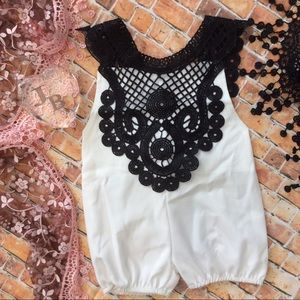 Other - Boutique Baby Girl Dress Up Romper